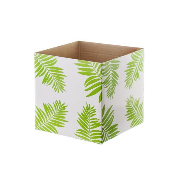 Posy Box Mini Gloss Leaf Green (13x12cmH)-Gift Box