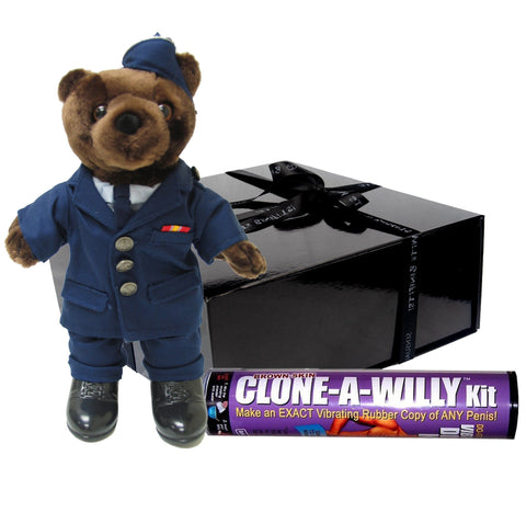 Air Force Officer Service Dress Male - Mini Bear - Military Gift Box