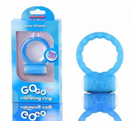 Go Go Fun Vibrating Silicone C Ring-Blush Novelties-Cock Rings