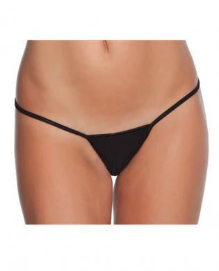 Low Rise Lycra G-String Black O/S-Lingerie