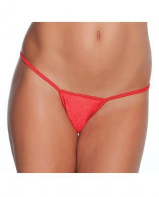 Low Rise Lycra G-String Red O/S-Lingerie