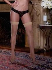 Sheer Thigh High W/Back Seam Nude Qn-Lingerie