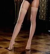 Sheer Thigh High W/Back Seam - Nude O/S-Lingerie