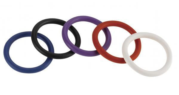 Rainbow Nitrile C Ring 5 Pack 1.5 inches-Spartacus-Cock Rings