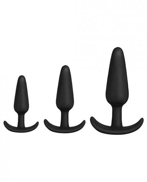 Mood Naughty 1 Anal Trainer Set Black 3 Plugs-Doc Johnson-Anal Trainer Kits