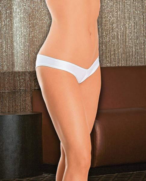 Bikini Cut Ruched Back White O/S Shorts