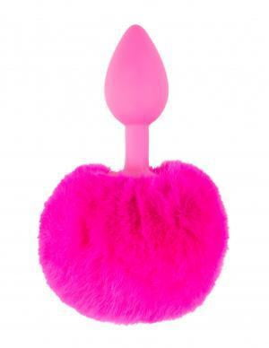 Neon Bunny Tail Plug Pink-Pipedream-Butt Plugs