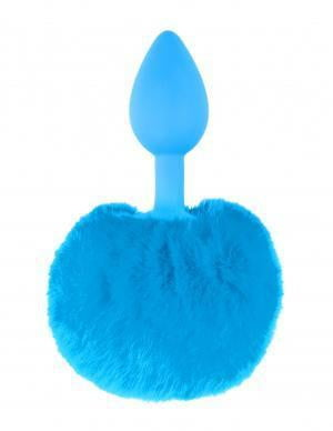Neon Bunny Tail Plug Blue-Pipedream-Butt Plugs