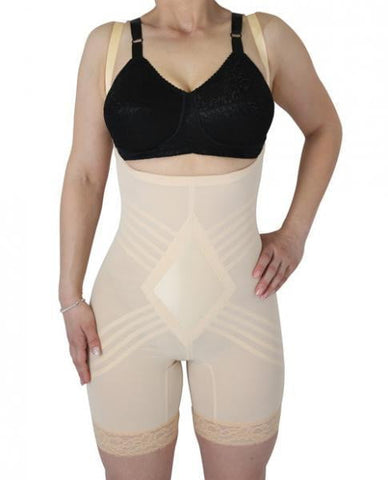 Rago Shapewear Wear Your Own Bra Body Shaper Beige XL-Bra
