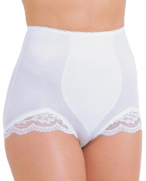 Rago Shapewear Panty Brief Light Shaping White 3X-Lingerie