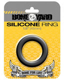 Boneyard Silicone Ring 1.8 inches Black-Rascal Toys-Cock Rings