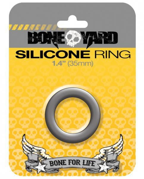 Boneyard Silicone Ring 1.4 inches Gray-Rascal Toys-Cock Rings
