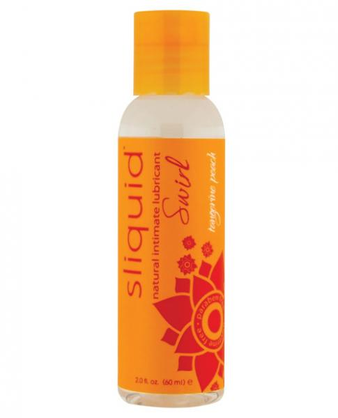 Sliquid Naturals Swirl Lubricant Tangerine Peach 2oz-Sliquid Lubricant-Beauty & Body