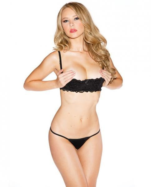 Chopper Bar Shelf Bra Uplifting Cleavage Black 42