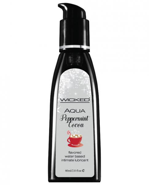 Wicked Aqua Flavored Lubricant Peppermint Mocha 2oz-Wicked Sensual Care-Lubricants