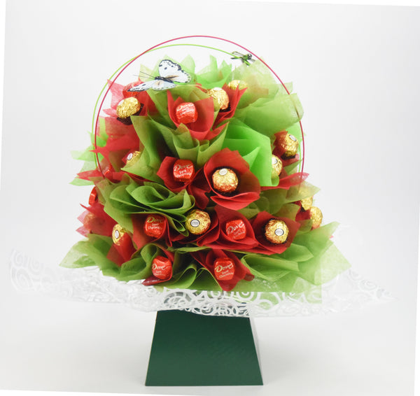 Green Ranunculus Chocolate Bouquet - Medium - Sensual Baskets | Romance Baskets With Benefits