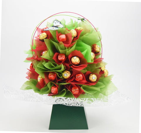 Green Ranunculus Chocolate Bouquet - Medium-Chocolate Bouquet