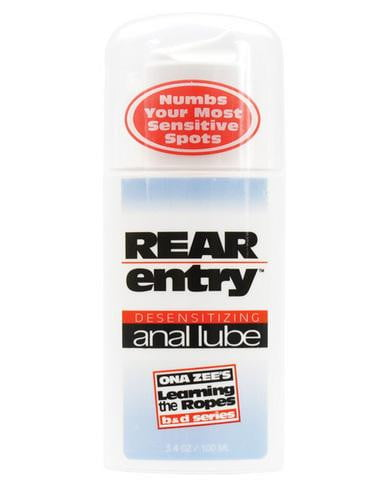 Ona Zees Rear Entry Desensitizing Anal Lube 3.4oz-Doc Johnson-Anal Lubricants