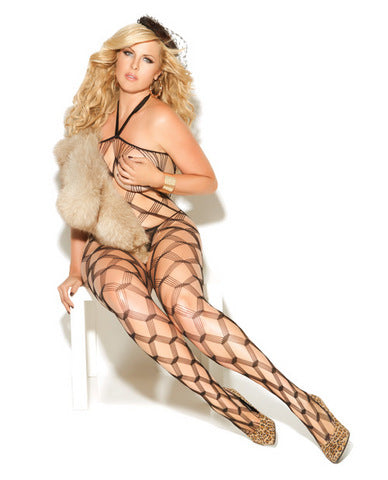 Vivace diamond net bodystockings black qn-Lingerie
