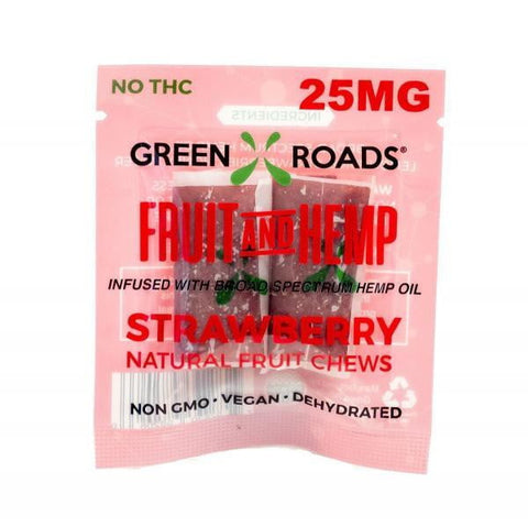 CBD Edibles 25mg On The Go Fruit + Hemp Strawberry 2 Pack-Sensual Baskets | Romance Baskets With Benefits