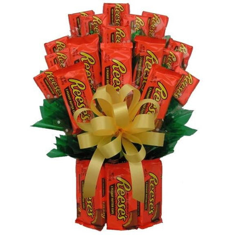 All Reese's Candy Bouquet -Large - Sensual Baskets | Romance Baskets With Benefits