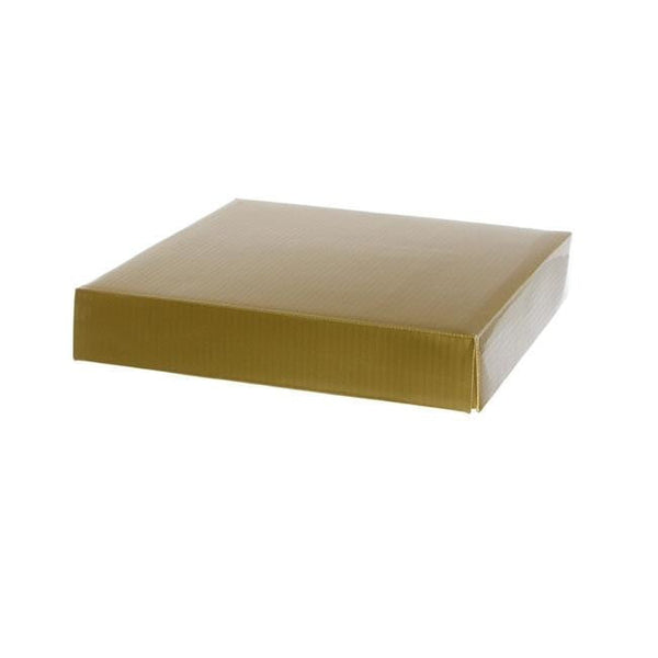 Posy Lid Mini Gloss Gold (14x14x3.5cmH)-Gift Box