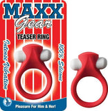 Maxx Gear Teaser Vibrating Ring Red-Nasstoys-Cock Rings