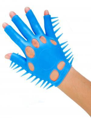 Neon Luv Glove Soft Smooth Ticklers O/S Blue-Pipedream-Sensual Massage