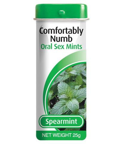 Comfortably numb mints spearmint-Pipedream-Oral Sex