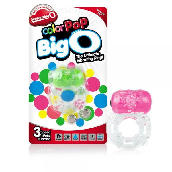 Color Pop Big O Vibrating Ring Assorted-Screaming O-Cock Rings