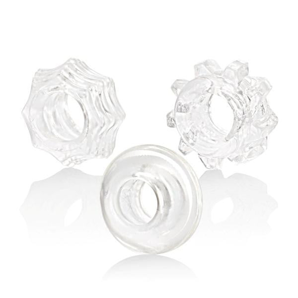 Reversible Ring Set Clear Pack Of 3-Cal Exotics-Cock Rings