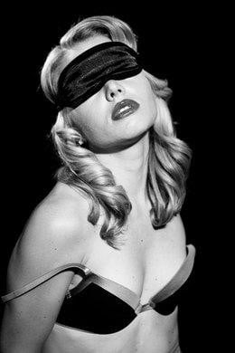 Sex & Mischief Satin Black Blindfold-Sportsheets-Blindfolds