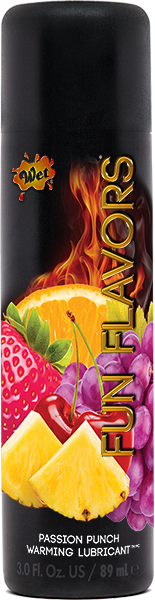 Wet Fun Flavors 4-in-1 Lubricant Passion Fruit Pizzazz 3oz-Wet International-Lubricants