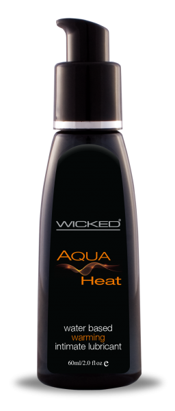 Wicked Aqua Heat Warming Lubricant 2oz-Wicked Lubes-Lubricants