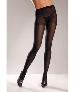 Opaque Nylon Pantyhose Black Queen-Lingerie