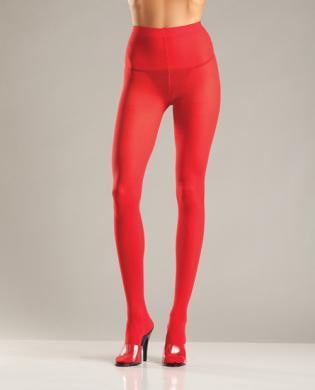 Opaque Nylon Pantyhose Red QN-Lingerie