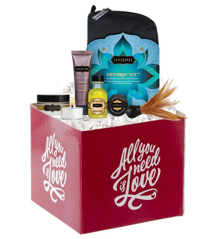 Kama Sutra Getaway Kit Basket-All you need is love Red-
