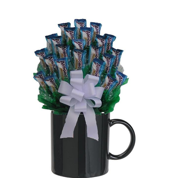 Almond Joy Candy Bouquet Mug   med - Sensual Baskets | Romance Baskets With Benefits