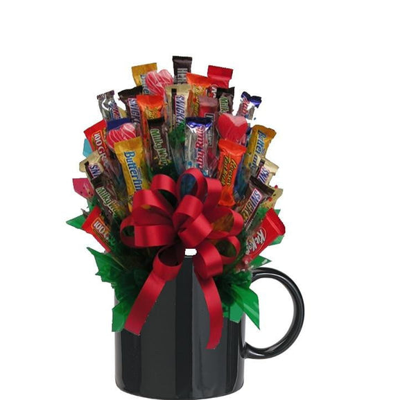 MIXED CHOCOLATE CANDY BOUQUET MUG-Black-Chocolate Bouquet