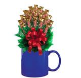 TWIX™ CANDY BOUQUET MUG-Blue-Candy Mug Bouquet
