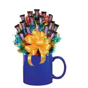 ALL SNICKERS™ CANDY BOUQUET MUG - med - Sensual Baskets | Romance Baskets With Benefits