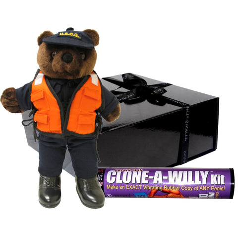 Coast Guard Bear w/ Life Vest - Military Gift Box-Sensual Baskets | Romance Baskets With Benefits