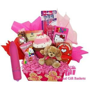 Hello Kitty & Pin-Up Girl Classic Babe Mini Vibe - Pink -Let It Snow Box-Hello Kitty Gift Box