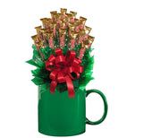 TWIX™ CANDY BOUQUET MUG-Green-Candy Mug Bouquet