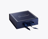 Will You Be My Groomsman? Proposal Box Navy Blue - Silver Font w/ Navy Blue Bow clone 1-Gift Box