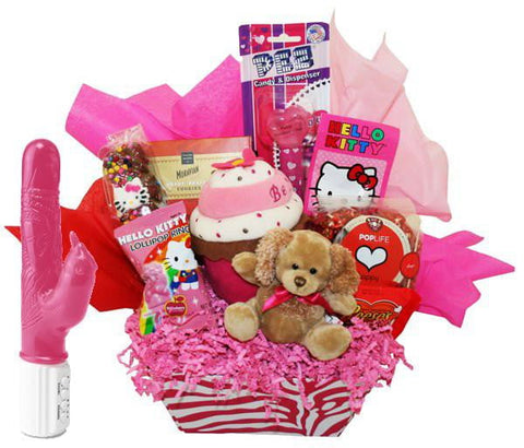 Hello Kitty & Jelly Eager Beaver Basket - Sensual Baskets | Romance Baskets With Benefits