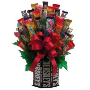 Hershey's™ & More Candy Bouquet-Chocolate Bouquet