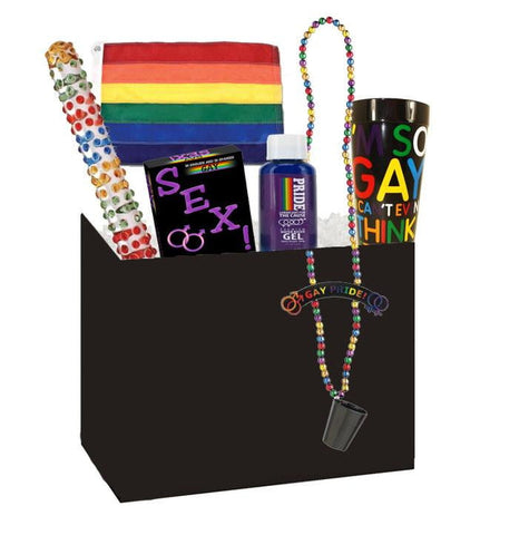 Rainbow Mega Nubby Gift Box - Sensual Baskets | Romance Baskets With Benefits