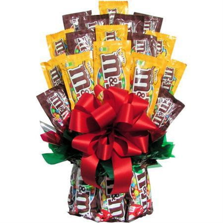 All M&M Candy Bouquet-Chocolate Bouquet