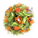 Orange and Green Lindt Dark Chocolate Bouquet